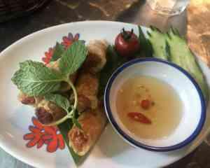 井の頭公園のタイ料理の春巻き