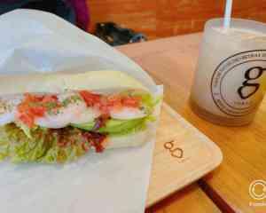 渋谷のg cafeのサンドイッチ