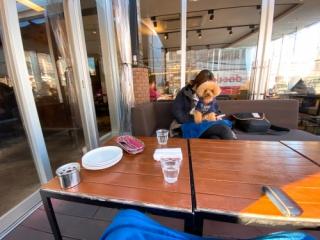 駒沢大学駅のランチのジョージ(駒沢食堂)のテラス席