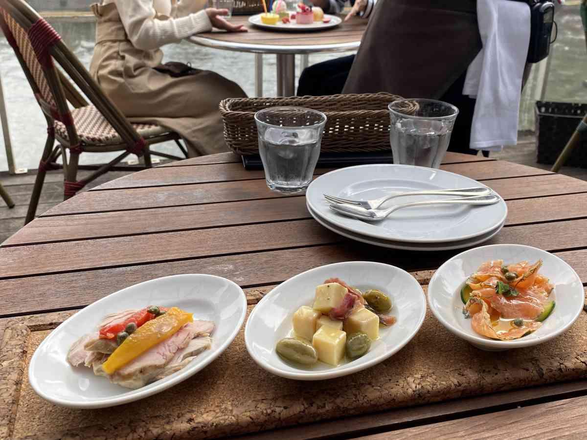 神楽坂・飯田橋のカナルカフェの選べる前菜3品