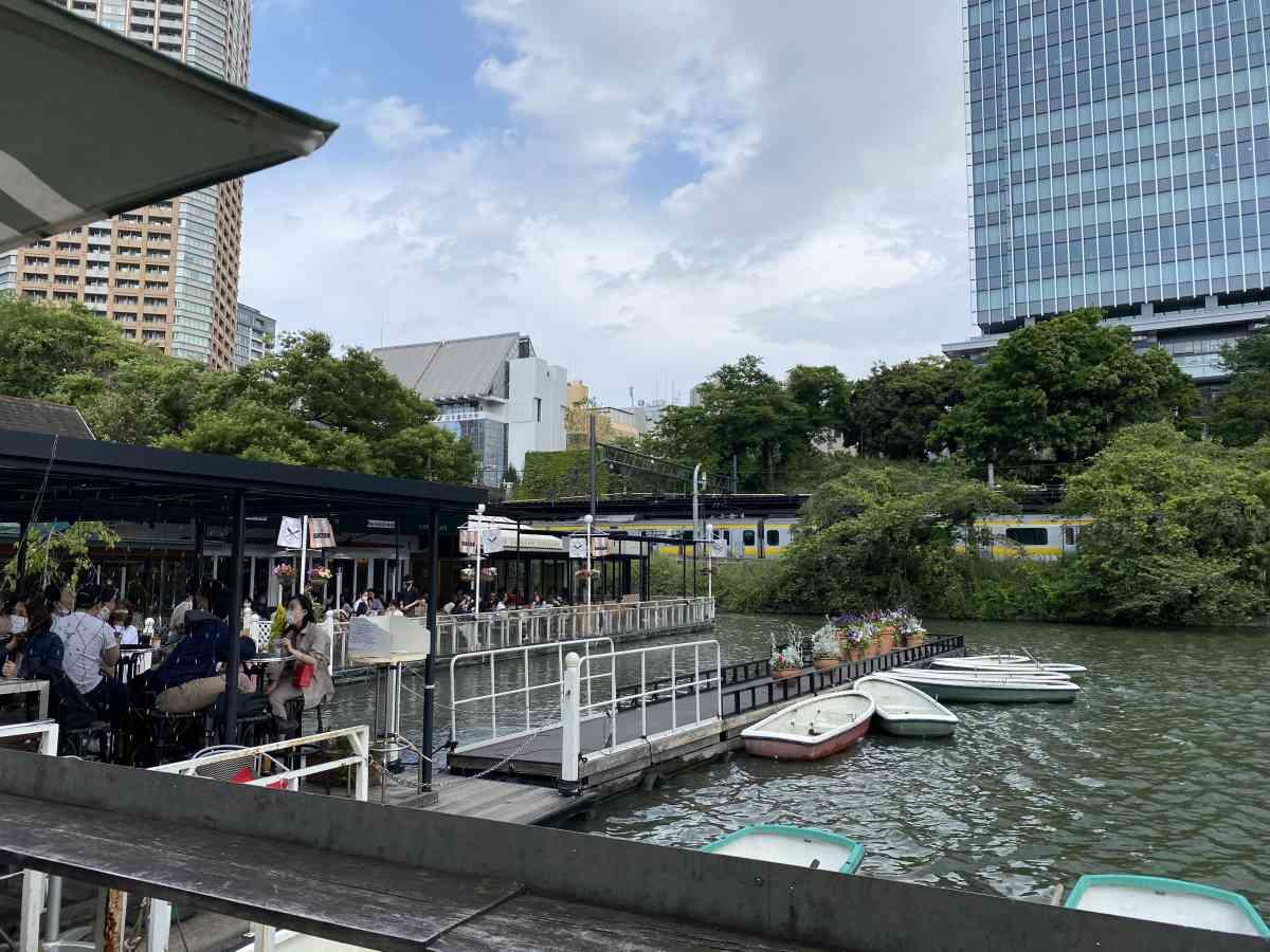 神楽坂・飯田橋のカナルカフェのテラス席