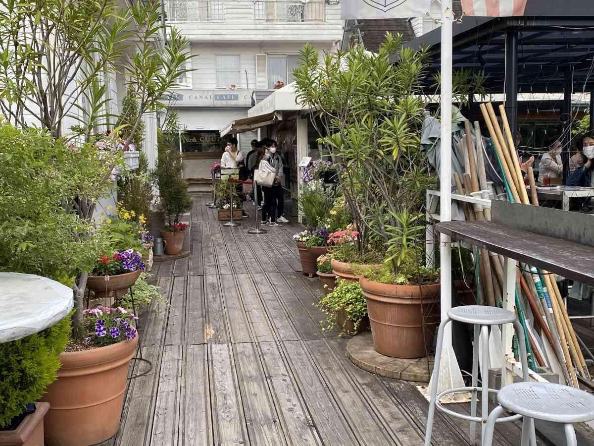 神楽坂・飯田橋のカナルカフェの雰囲気