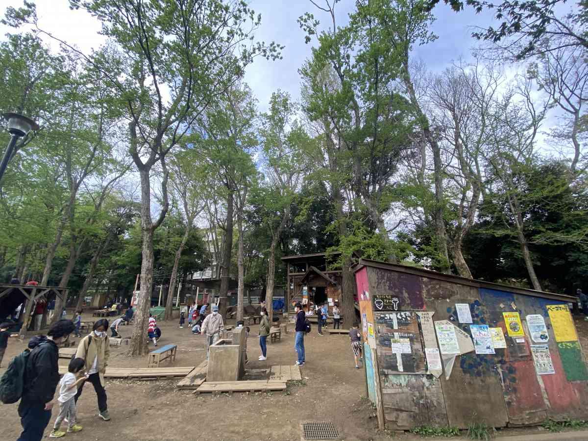 世田谷公園のプレーパーク