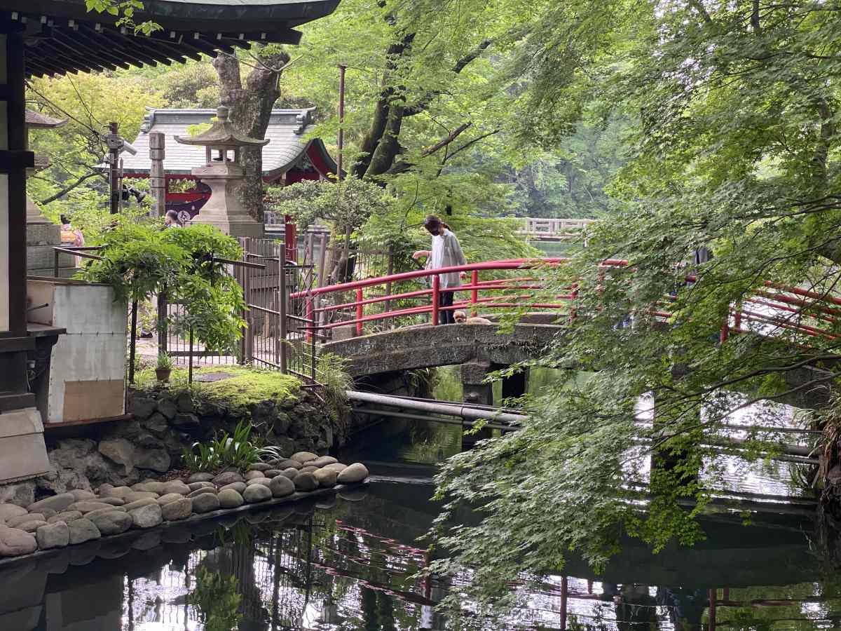井の頭公園の寺
