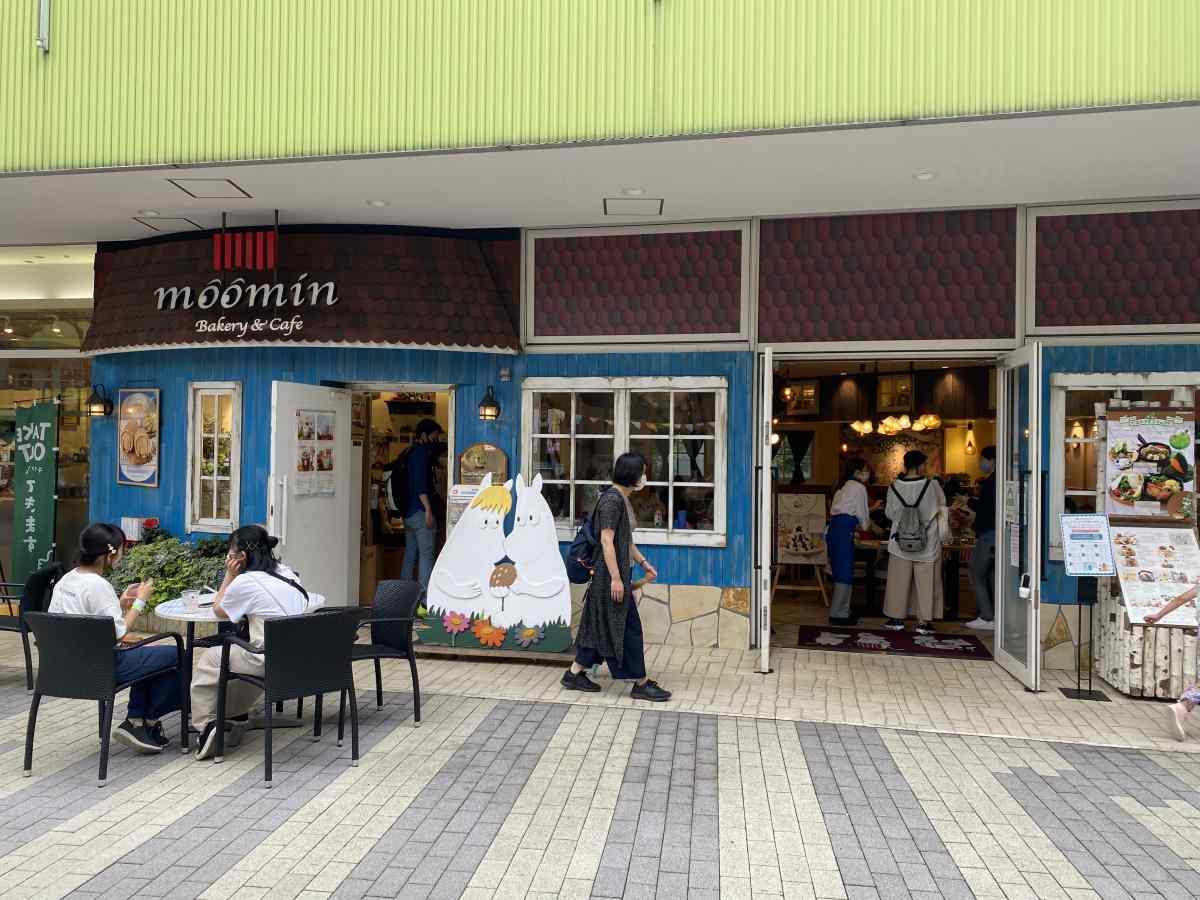 東京ドームシティーのムーミンカフェ