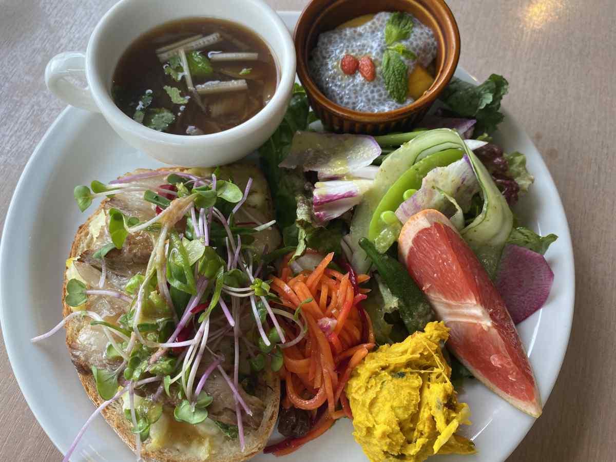 上野公園のパークサイドカフェ(park side cafe)の15種類野菜の森のガーデンプレート
