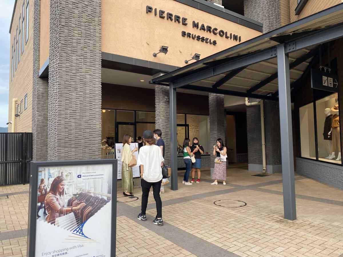 御殿場アウトレットの「PIERRE MARCOLINI」の外観