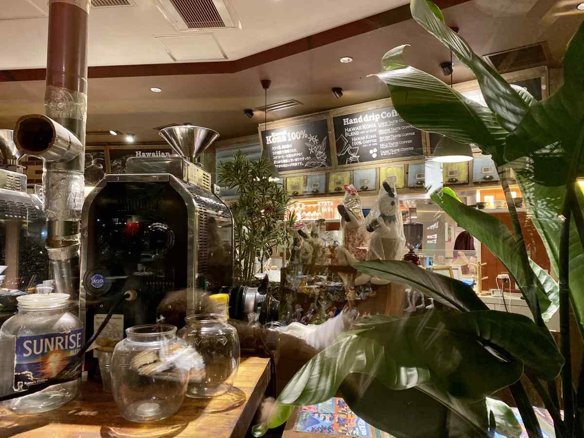 コナズ珈琲の店内の雰囲気