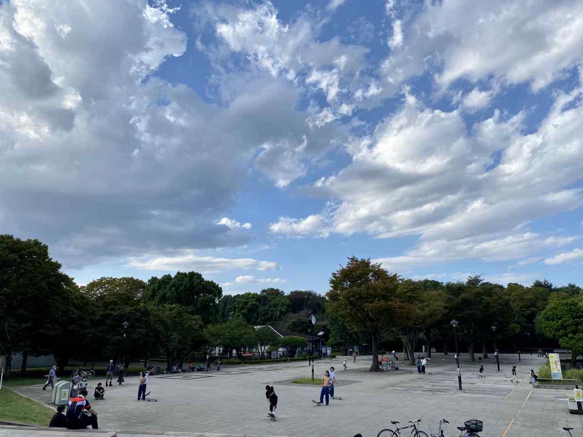 光が丘公園、南側の広場